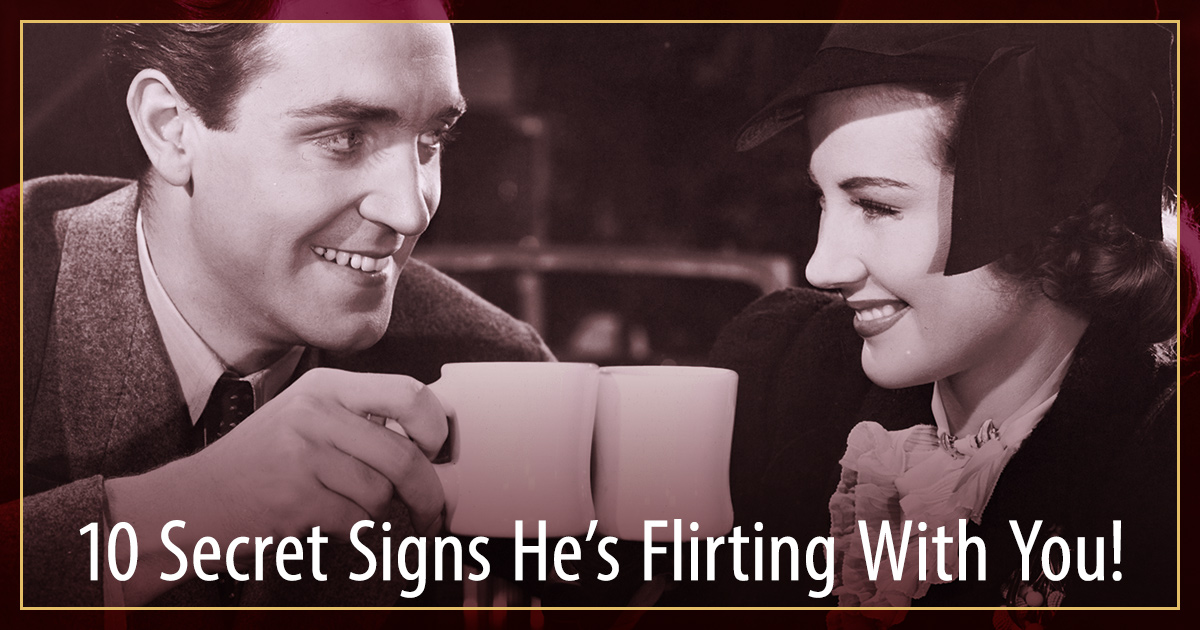 male flirting signals